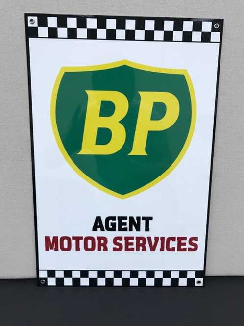 BP AGENT SERVICES REPRODUCTION SIGN