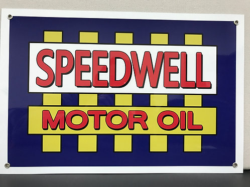 Speedwell Motor Oil Reproduction Sign