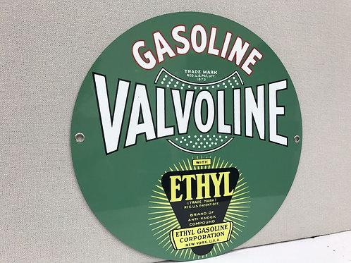 Valvoline Ethyl Gasoline Sign