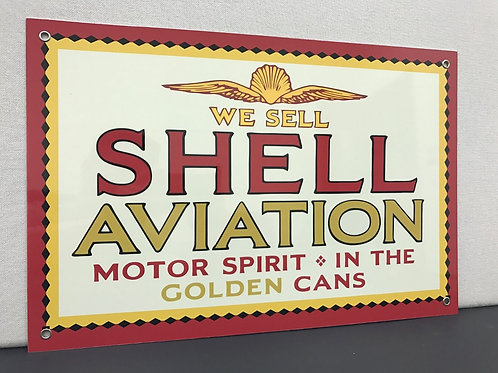SHELL AVIATION  GOLDEN CANS REPRODUCTION SIGN