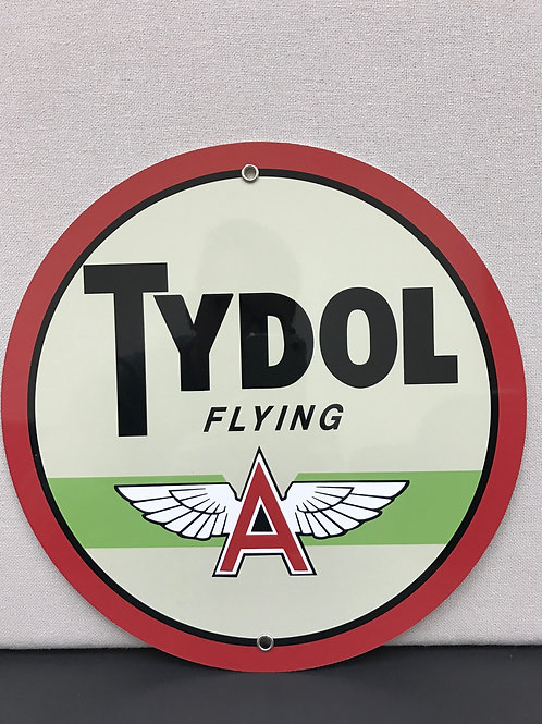 TYDOL FLYING A GASOLINE REPRODUCTION SIGN