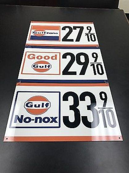 GULF GASOLINE REPRODUCTION SIGN 3 piece