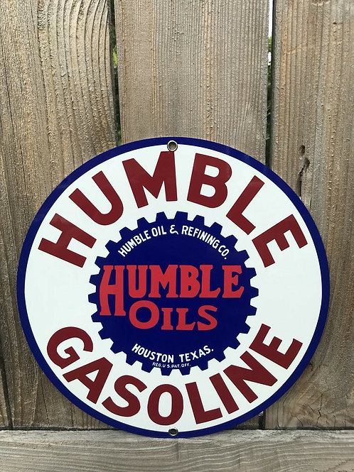 Humble Texas Oil Vintage Sign