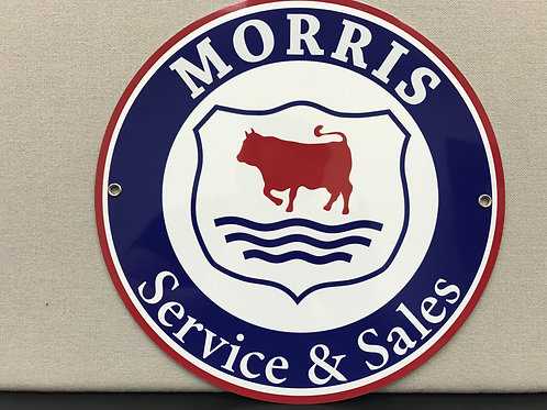 MORRIS SERVICE REPRODUCTION SIGN