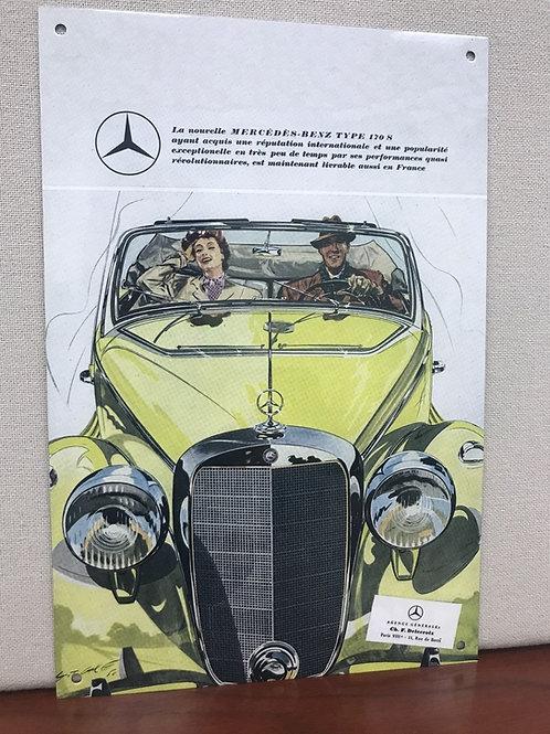 Mercedes Benz 170s Vintage Wall Art