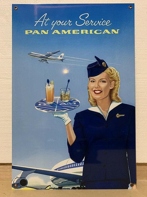 Pan Am Vintage Sign