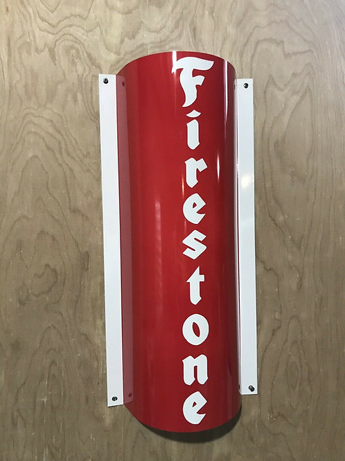 Firestone Curved Sign_Red