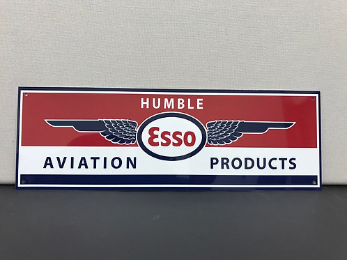 ESSO AVIATION PRODUCTS REPRODUCTION SIGN