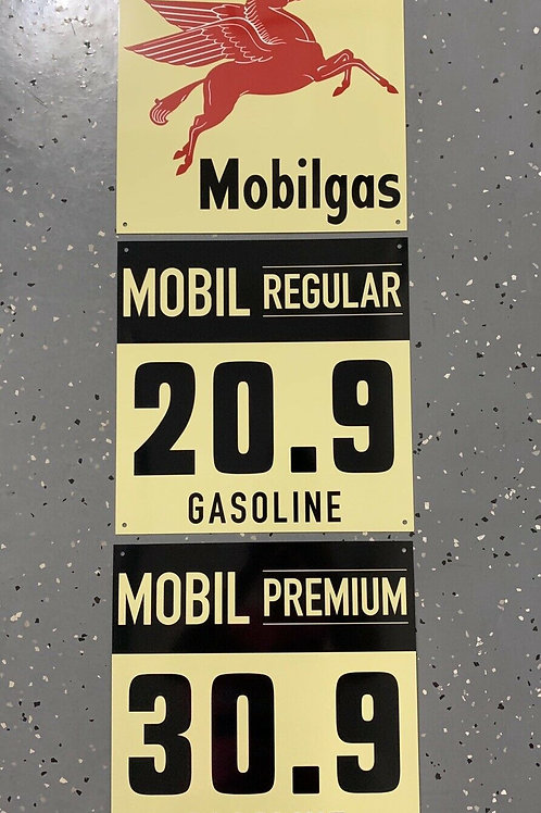MOBILGAS REGULAR & PREMIUM - 3 PIECE SIGN