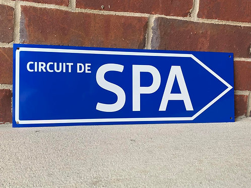 Circuit De Spa Road Sign
