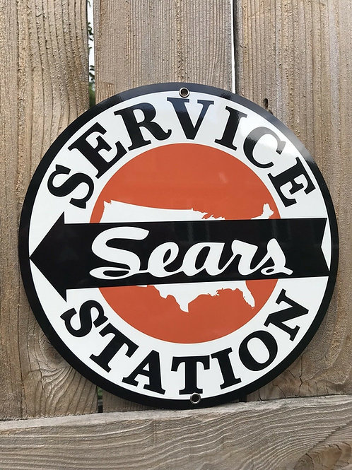 Sears Service Station Vintage Sign