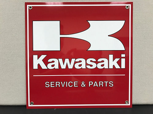 KAWASAKI SERVICE REPRODUCTION SIGN