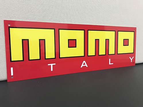 MOMO RED REPRODUCTION SIGN