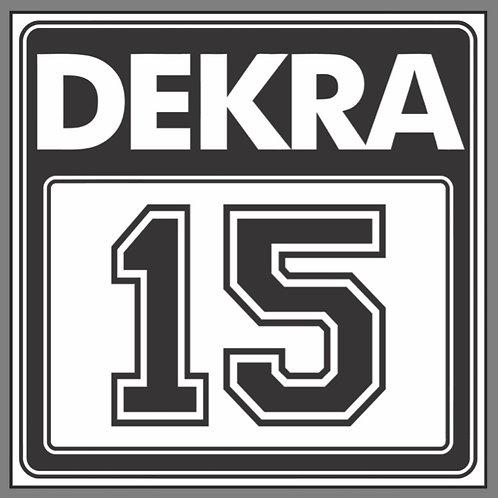 DEKRA RACING 15 BLACK REPRODUCTION SIGN