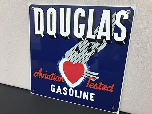 DOUGLAS  AVIATION GASOLINE REPRODUCTION SIGN