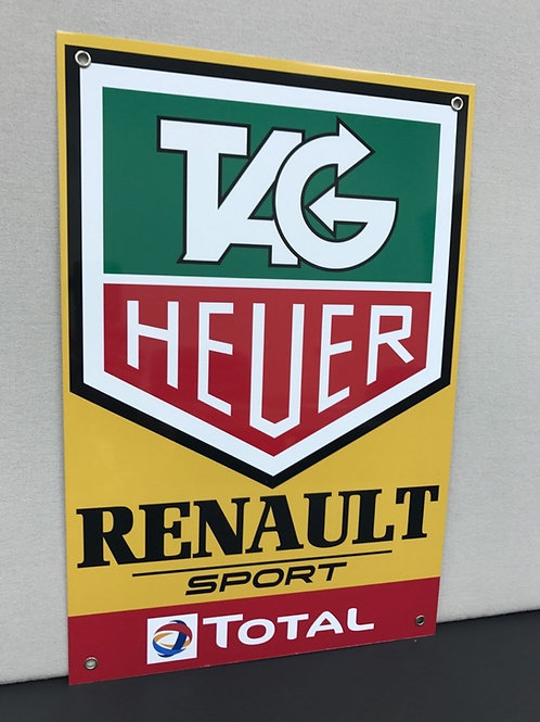 F1 RENAULT TEAM TAG TOTAL REPRODUCTION SIGN
