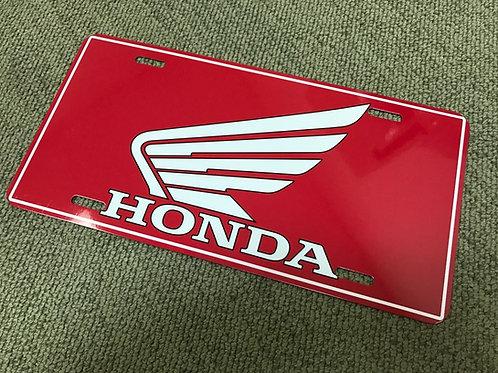 Honda License Plate