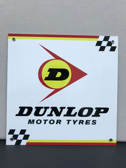 DUNLOP MOTOR TYRES REPRODUCTION SIGN