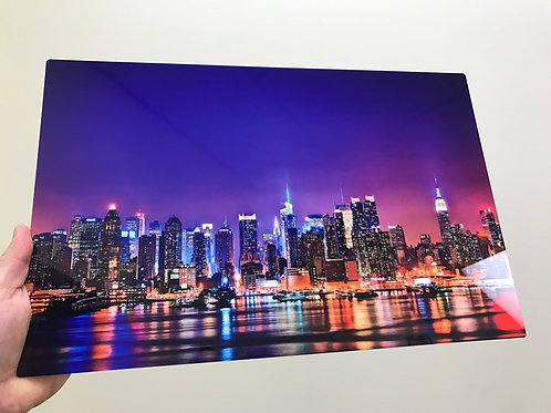 NEW YORK CITY SKYLINE HI DEF METAL PANEL