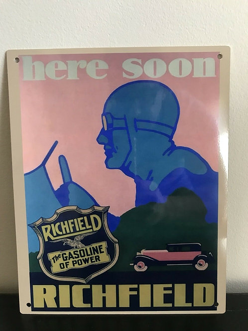 Richfield Gasoline Reproduction Sign