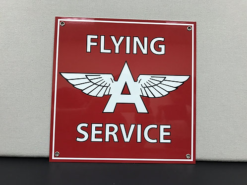 FLYING A AVIATION SERVICE RED REPRODUCTION SIGN
