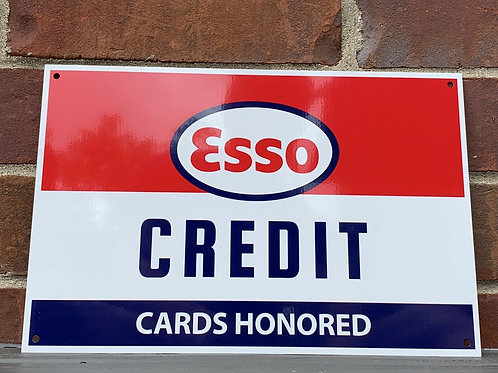 Esso Gasoline Credit Cards Honored