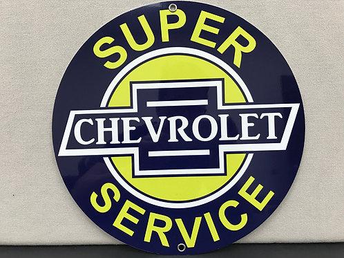 SUPER CHEVROLET SERVICE REPRODUCTION SIGN
