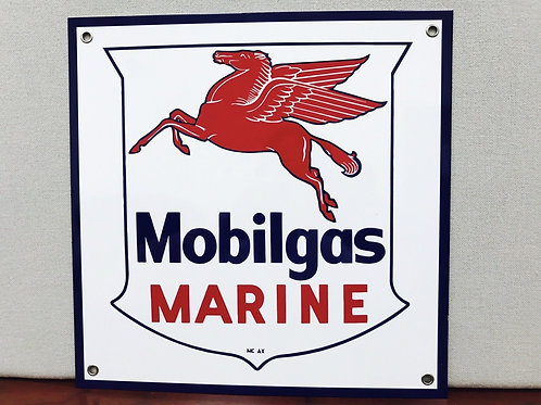 MOBILGAS MARINE REPRODUCTION SIGN