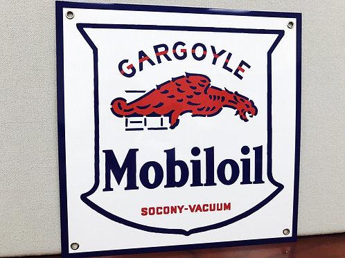 MOBILOIL GARGOYLE REPRODUCTION SIGN