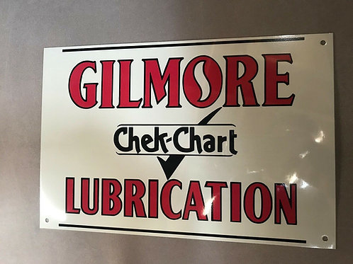 Gilmore Lubrication Check Chart