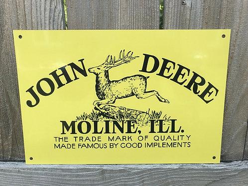 John Deere Farm Implements Vintage Sign