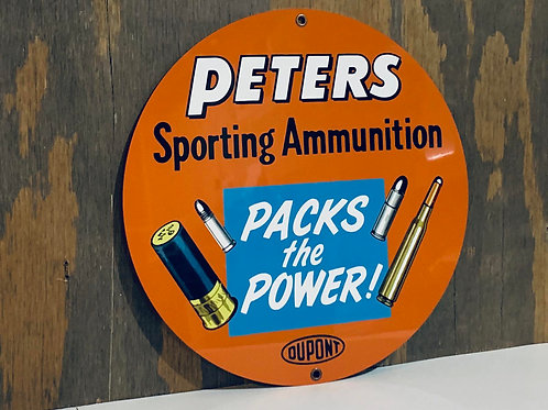 Peters Sporting Ammunition Vintage Style Sign
