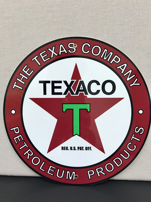 TEXACO PETROLEUM PRODUCTS REPRODUCTION SIGN