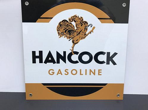 HANCOCK GASOLINE BROWN SQUARE REPRODUCTION SIGN