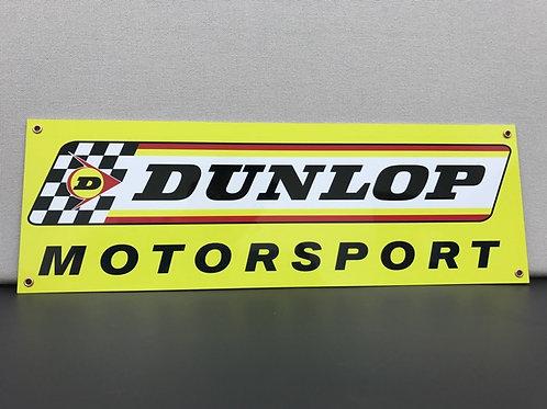DUNLOP MOTORSPORT REPRODUCTION SIGN