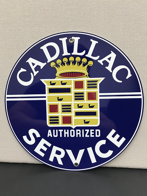 CADILLAC SERVICE VINTAGE REPRODUCTION SIGN