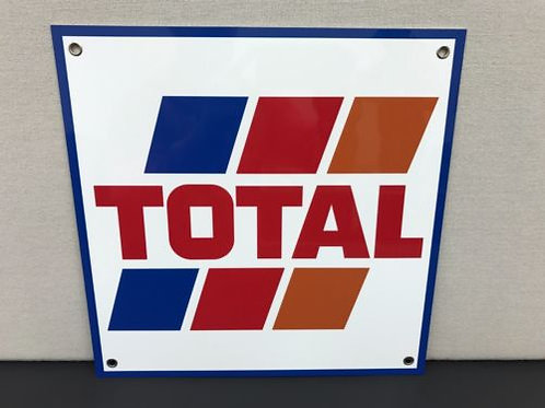 TOTAL RACING OIL REPRODUCTION SIGN