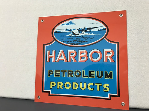 HARBOR PETROLEUM PRODUCTS REPRODUCTION SIGN