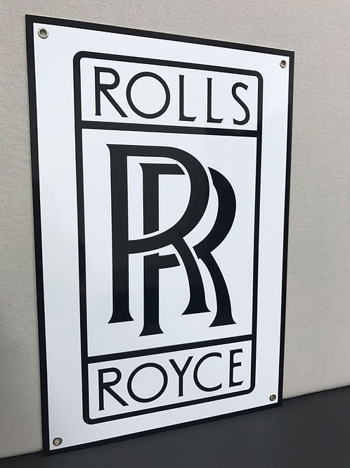 ROLLS ROYCE REPRODUCTION SIGN
