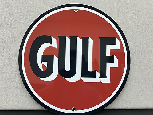 GULF DEALER REPRODUCTION SIGN