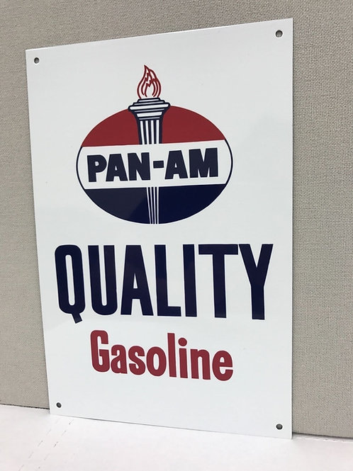 Pan-Am Quality Gasoline Vintage Sign