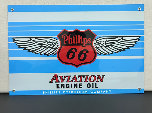 PHILLIPS 66 AVIATION REPRODUCTION SIGN LARGE