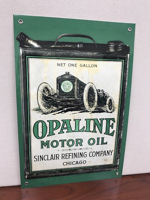Sinclair Opaline Motor Green Can Oil Reproduction Sign
