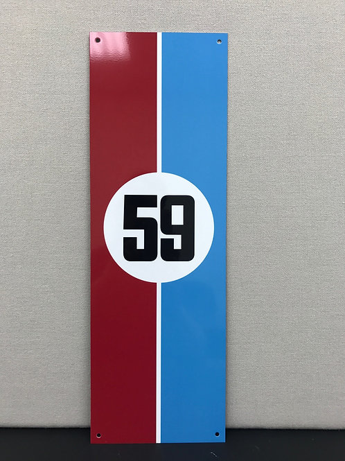 BRUMOS 59 RACING REPRODUCTION SIGN