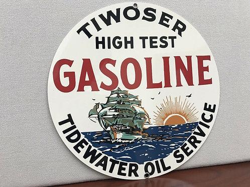 Tiwoser High Test Gasoline Sign