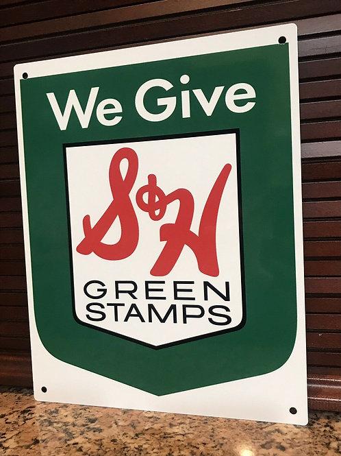 S&H Green Stamps Vintage Sign