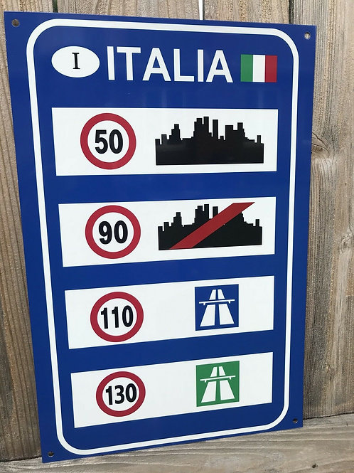 City Road Sign Italy