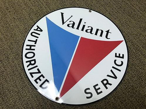 VALIANT SERVICE REPRODUCTION RETRO SIGN