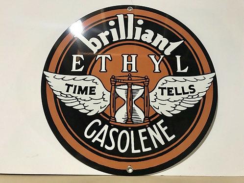 Johnson Winged Ethyl Gasolene Sign