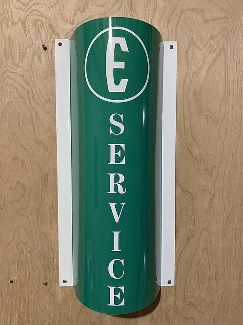 Edsel Service Curved Sign